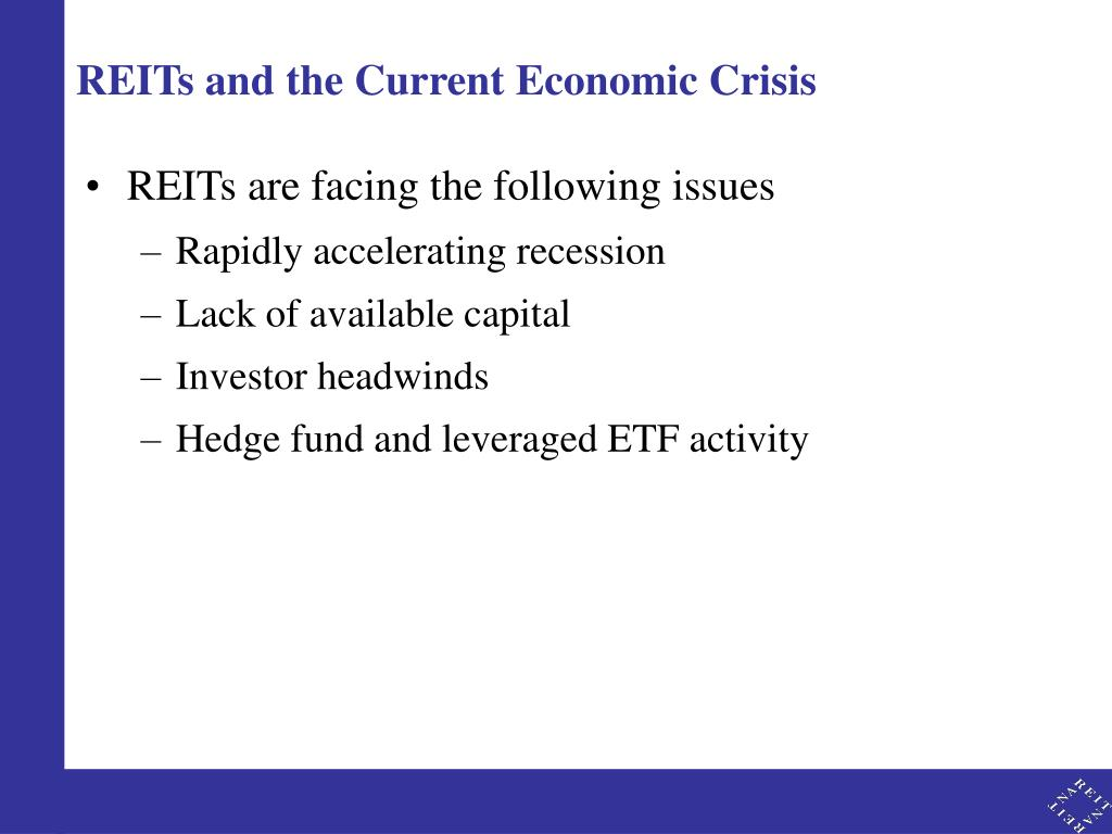REITs and the Current Economic Crisis