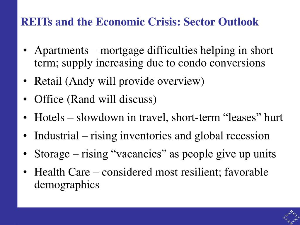 REITs and the Economic Crisis: Sector Outlook