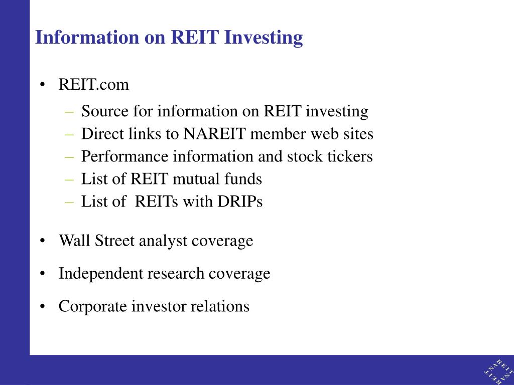 Information on REIT Investing