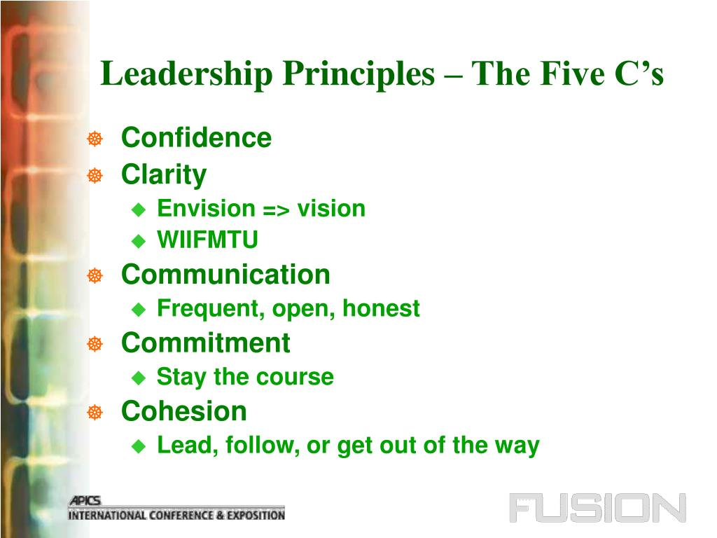 Leadership Principles – The Five C's