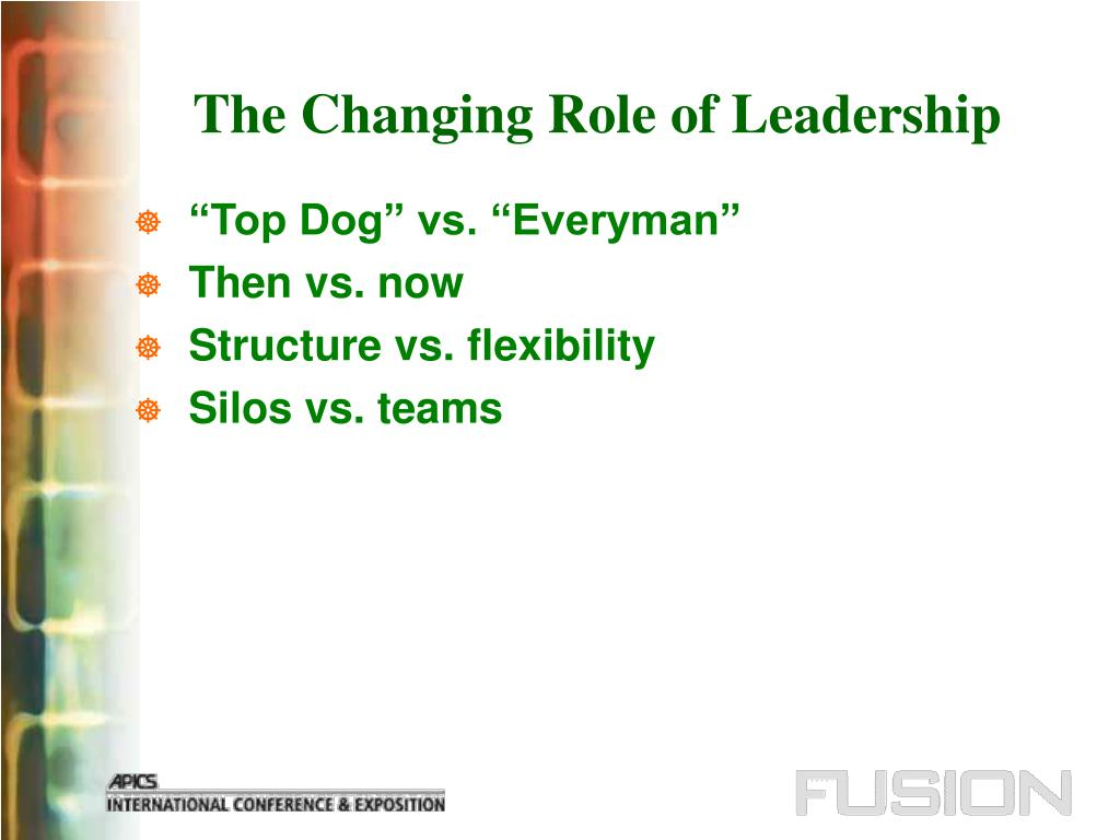 The Changing Role of Leadership