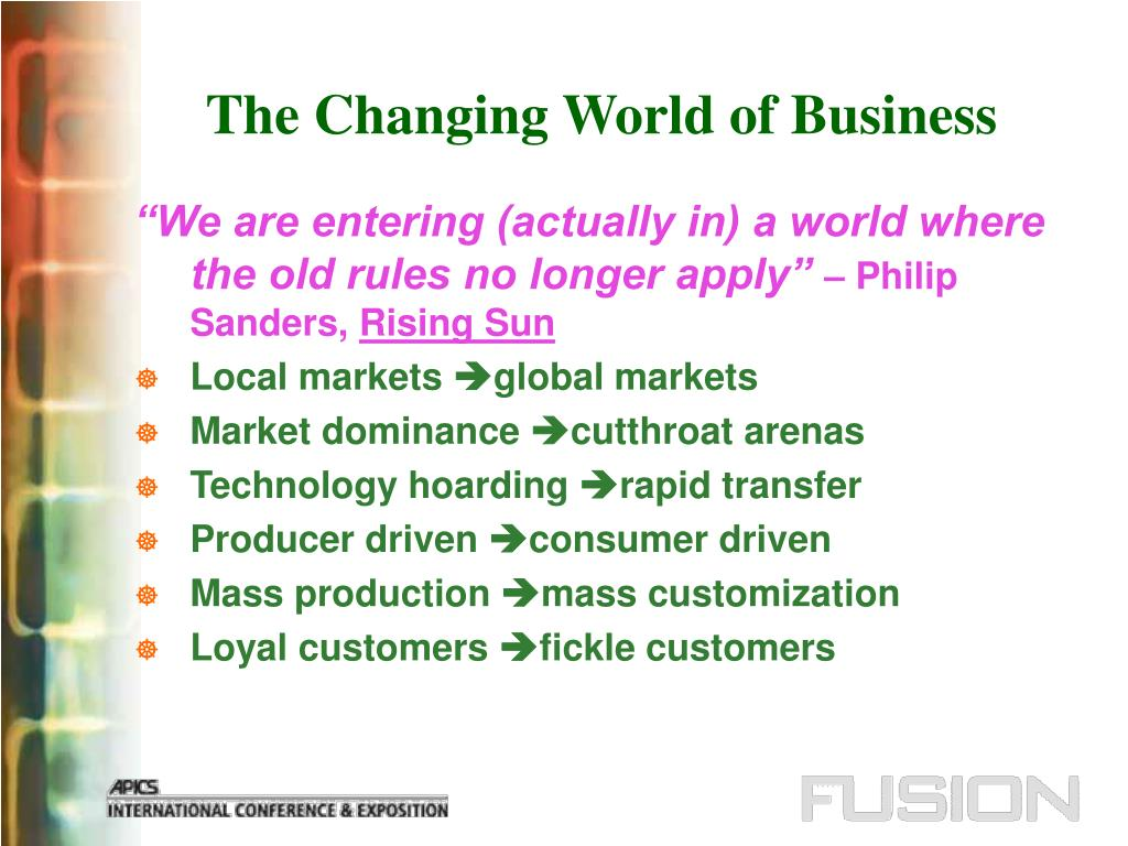 The Changing World of Business