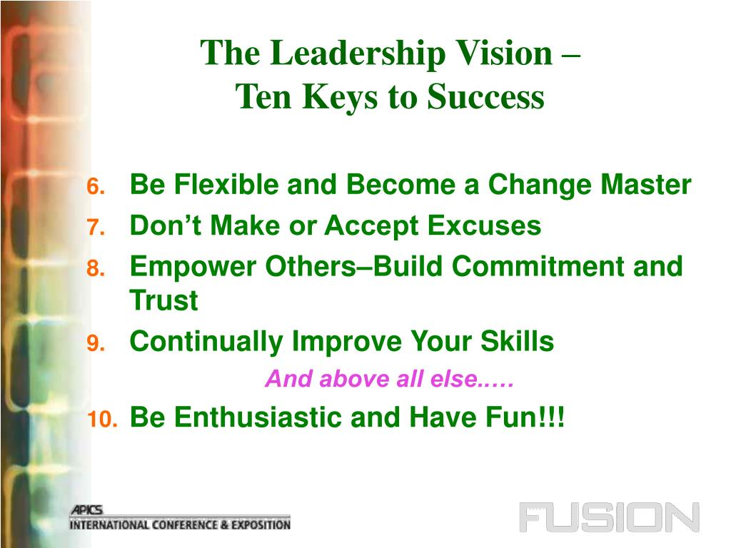The Leadership Vision –
