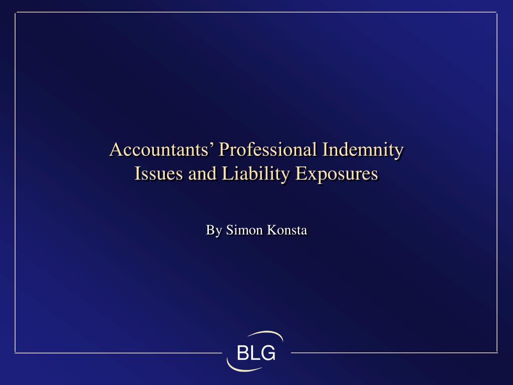 Accountants' Professional Indemnity