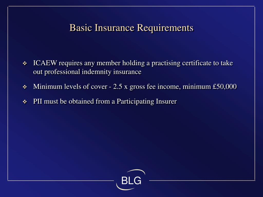 Basic Insurance Requirements