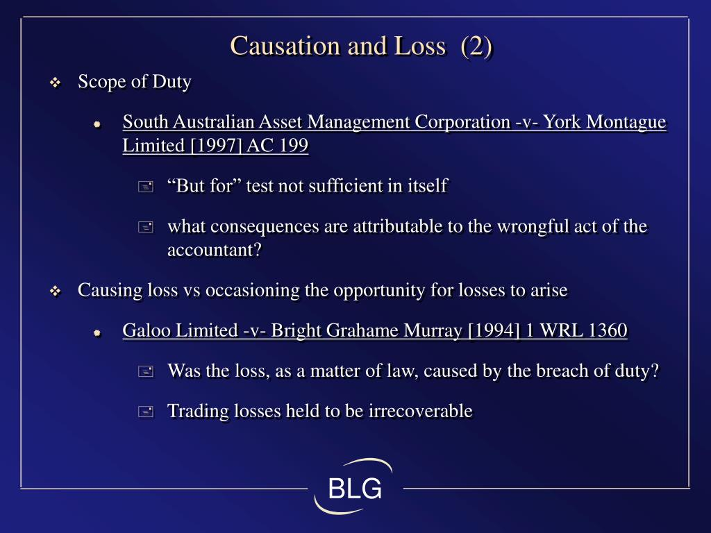 Causation and Loss  (2)