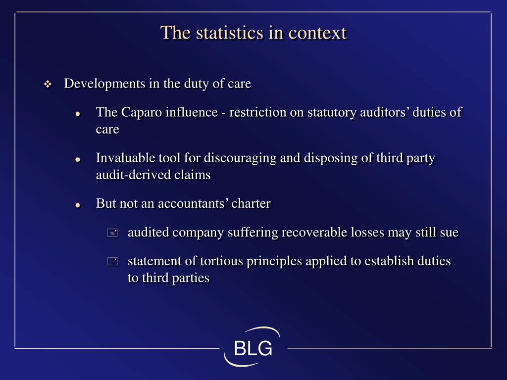 The statistics in context