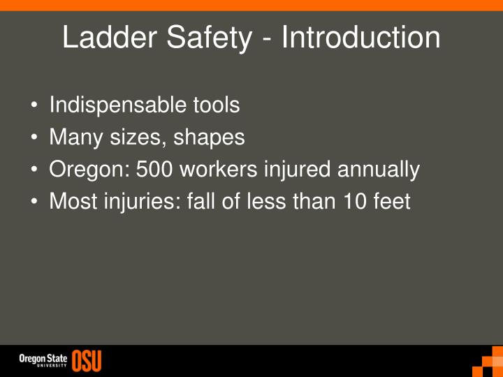 Ladder safety introduction