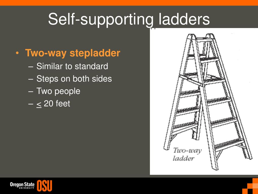 Self-supporting ladders