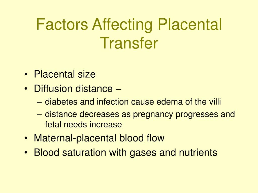 Factors Affecting Placental Transfer