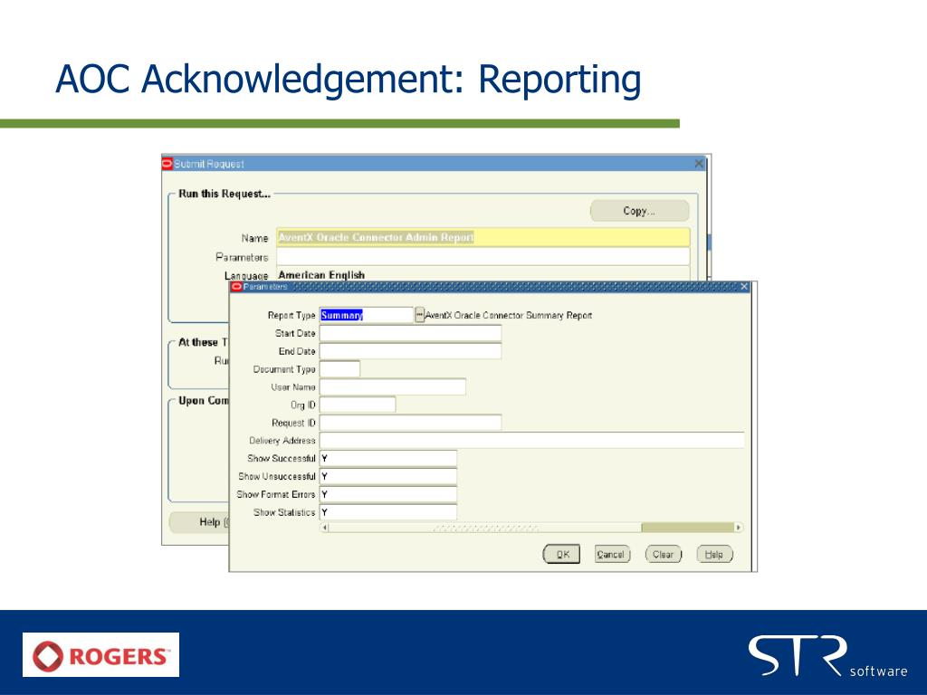 AOC Acknowledgement: Reporting