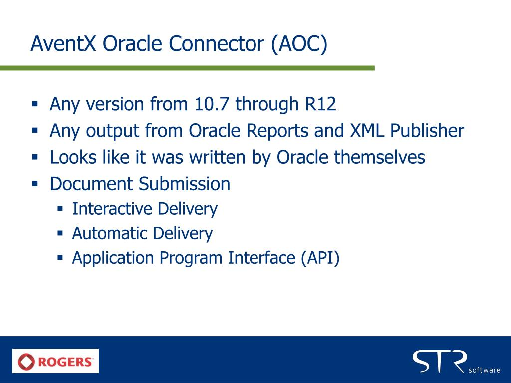 AventX Oracle Connector (AOC)