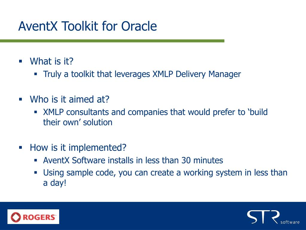 AventX Toolkit for Oracle