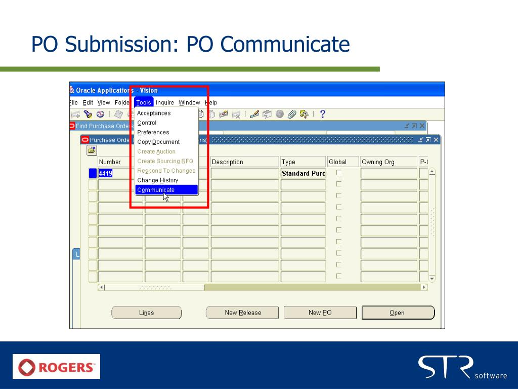 PO Submission: PO Communicate