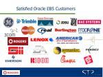 satisfied oracle ebs customers