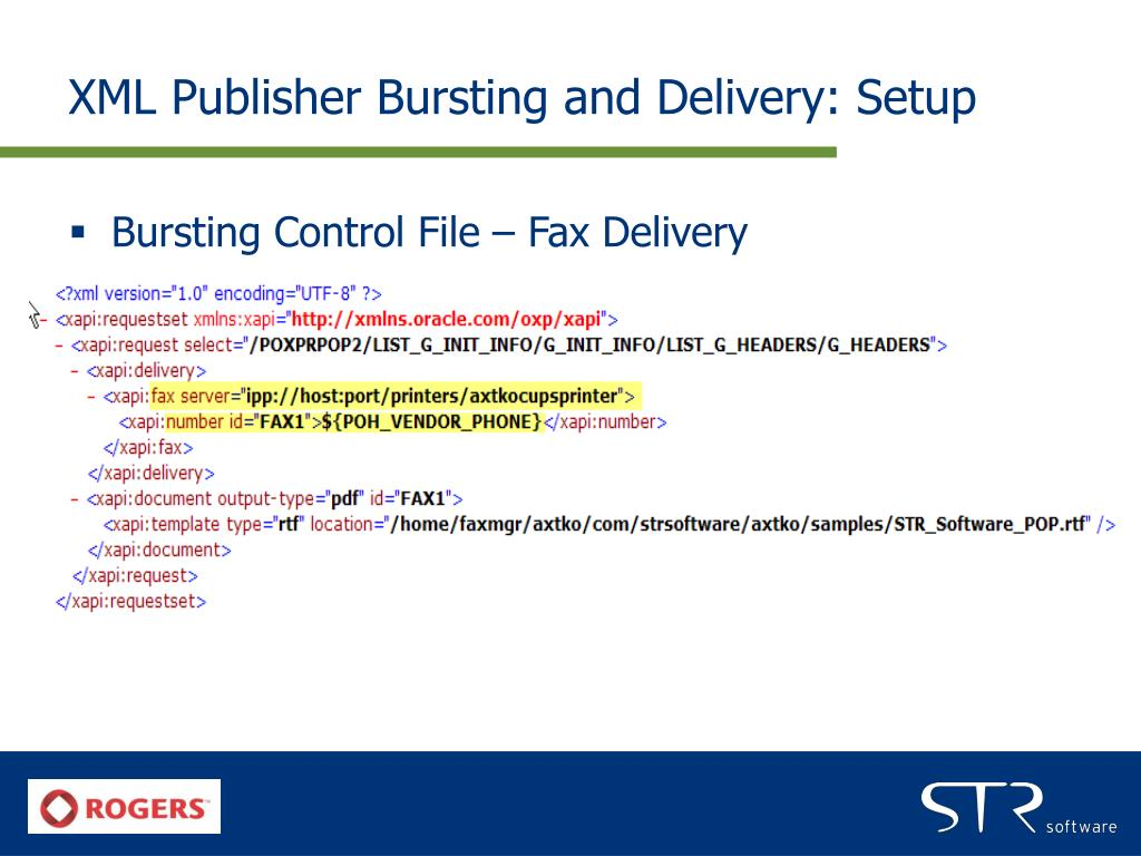 XML Publisher Bursting and Delivery: Setup