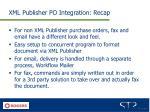 xml publisher po integration recap
