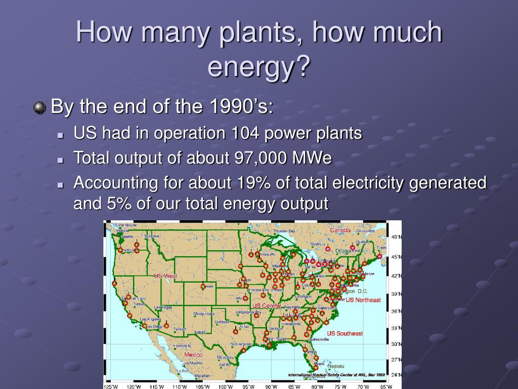 How many plants, how much energy?