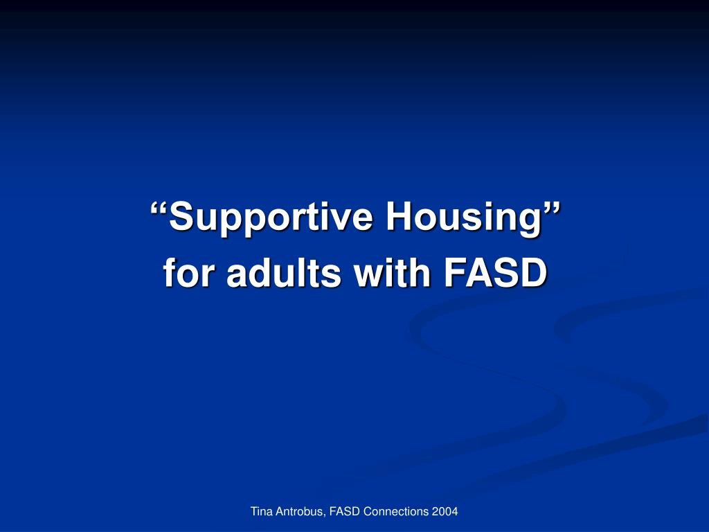 """""""Supportive Housing"""""""