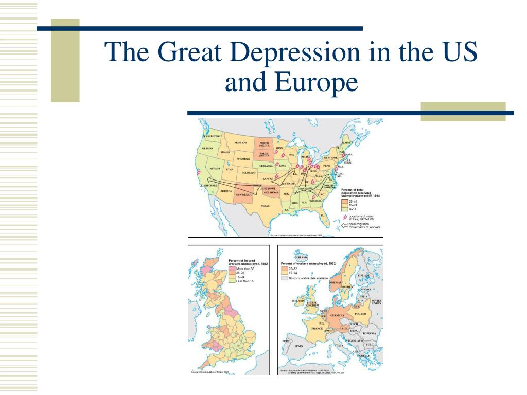 The Great Depression in the US and Europe