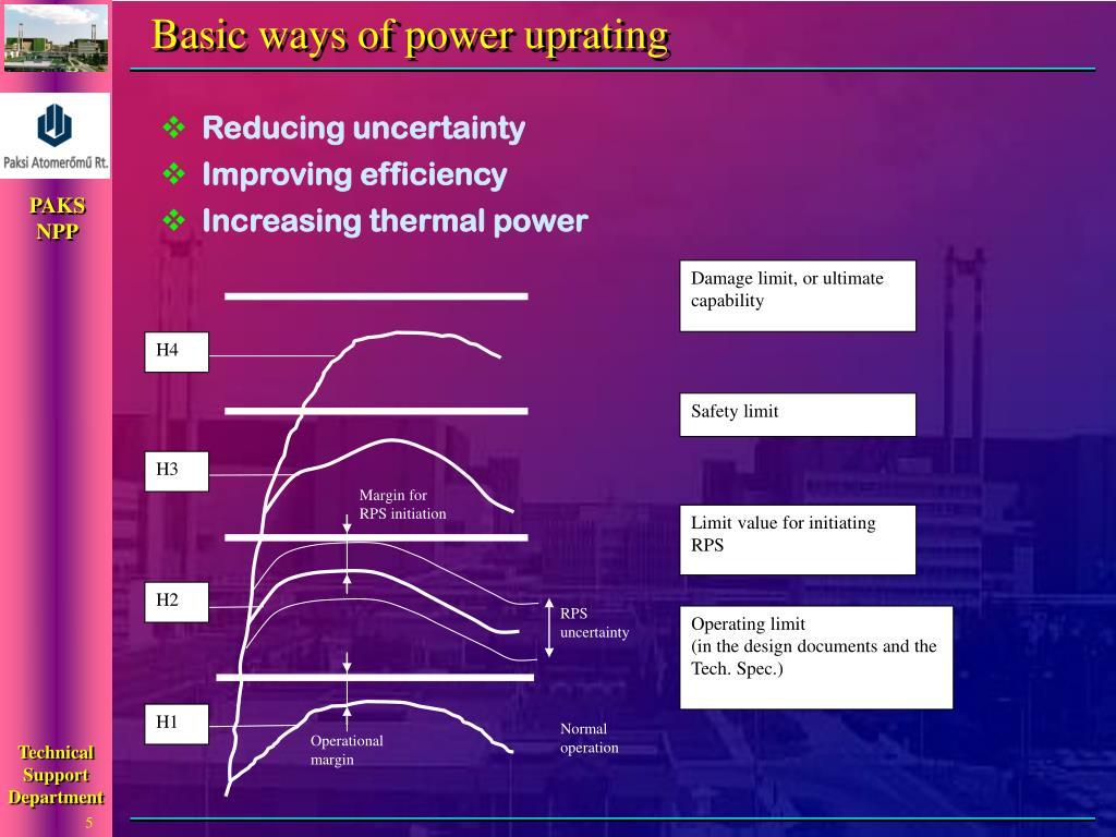 Basic ways of power uprating