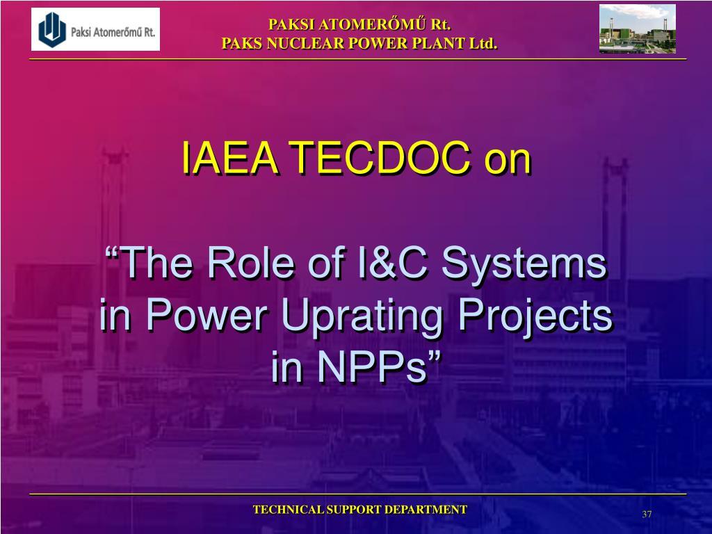IAEA TECDOC on