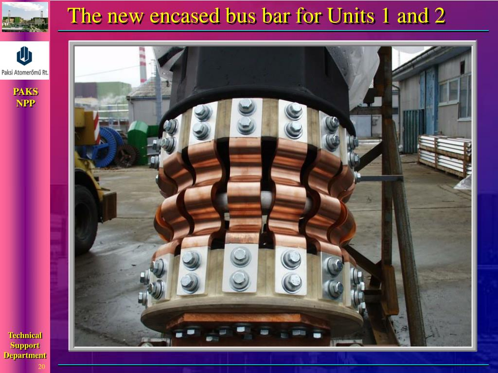The new encased bus bar for Units 1 and 2
