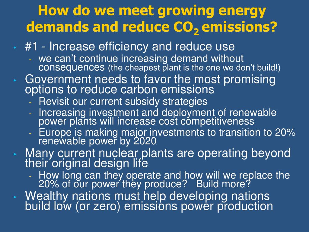 How do we meet growing energy demands and reduce CO