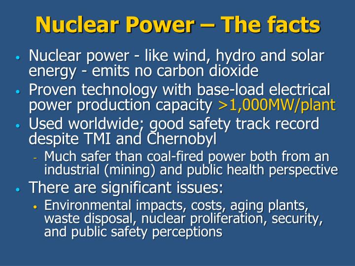 Nuclear power the facts