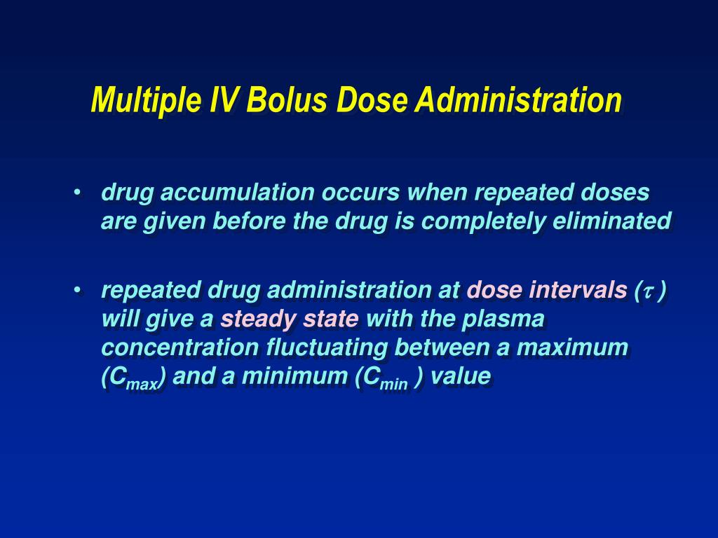 Multiple IV Bolus Dose Administration