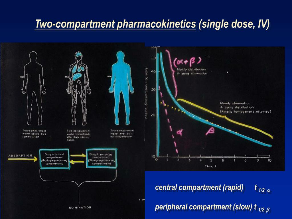 Two-compartment pharmacokinetics