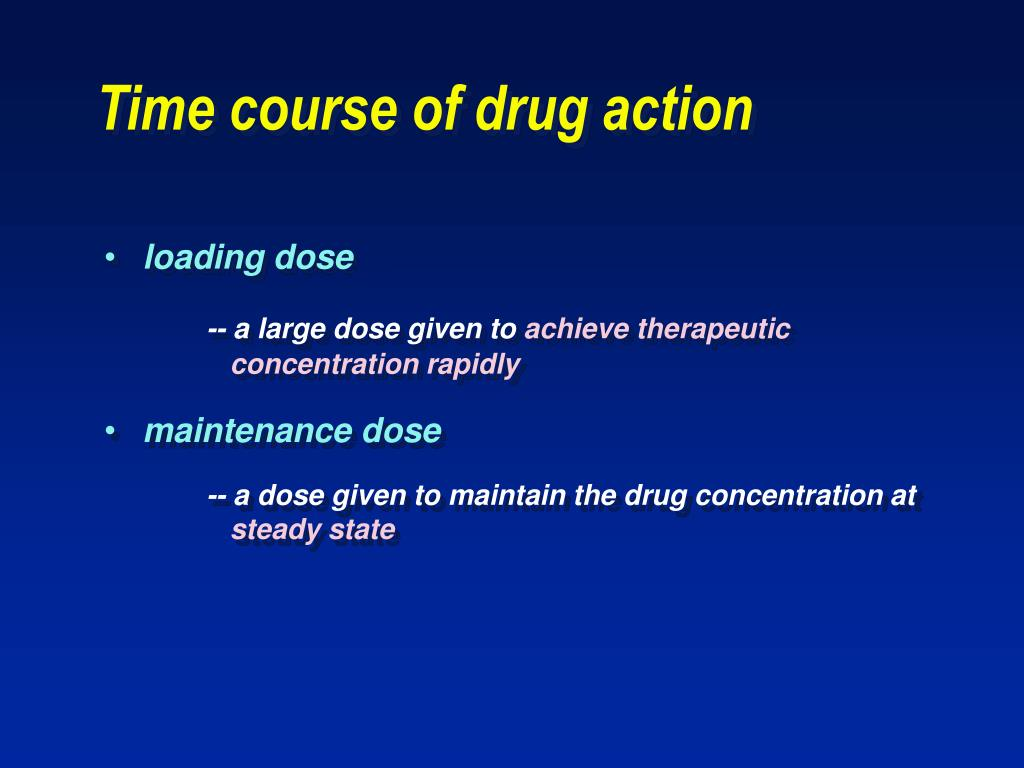 Time course of drug action