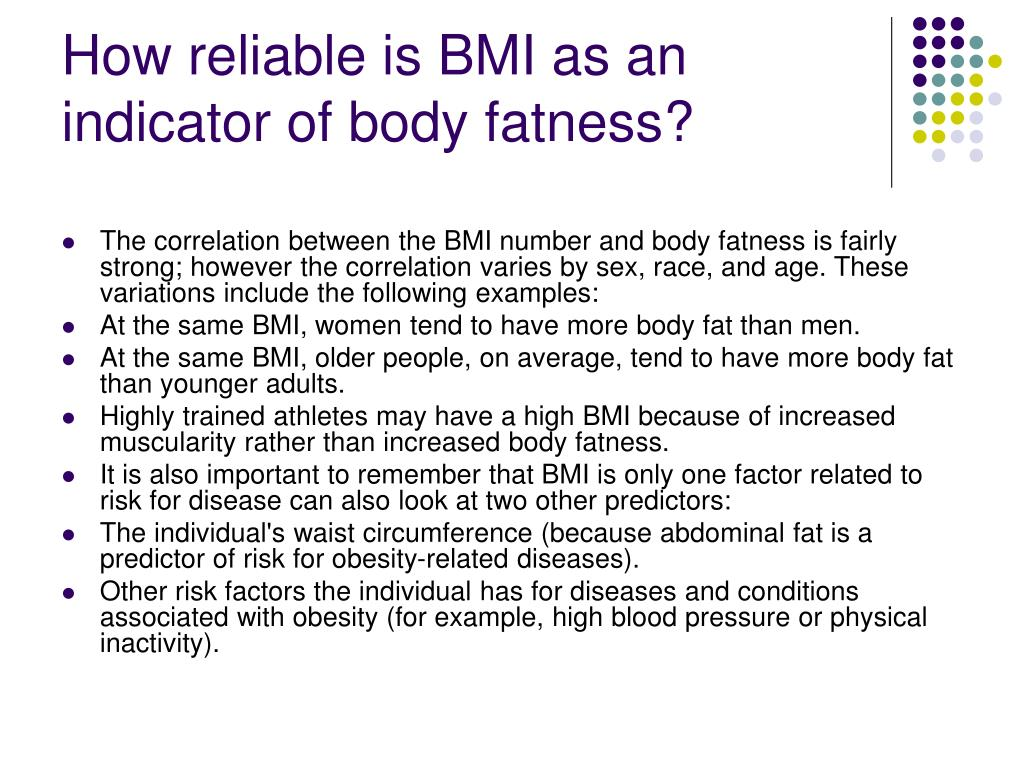 How reliable is BMI as an indicator of body fatness?