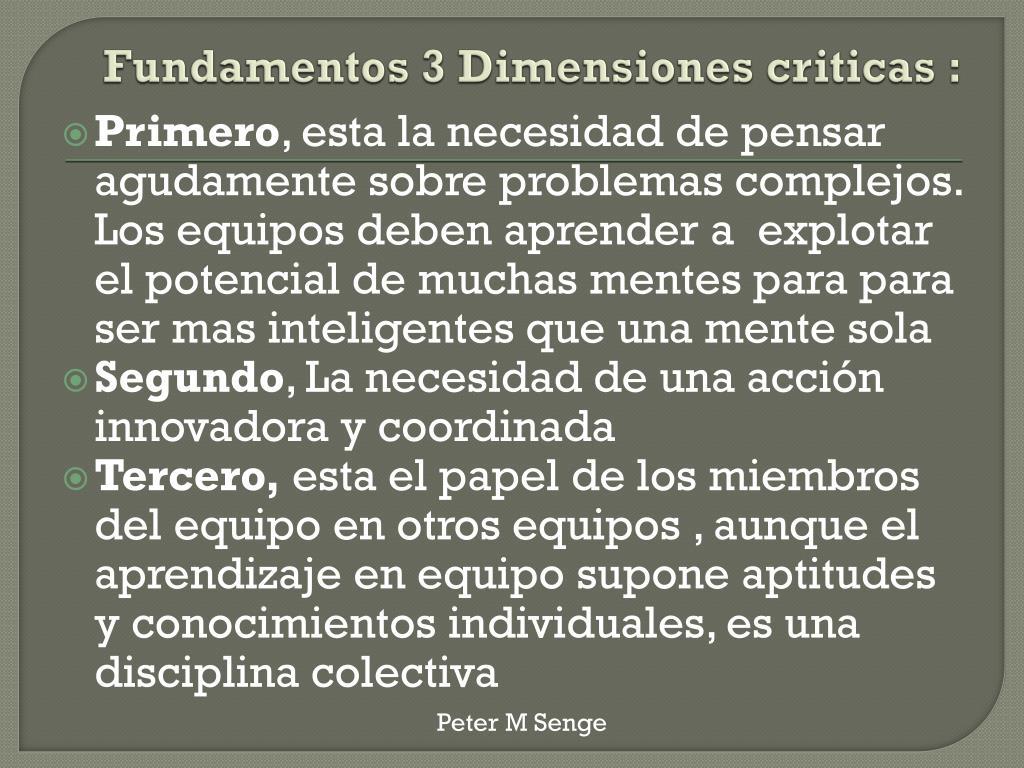 Fundamentos 3 Dimensiones criticas :