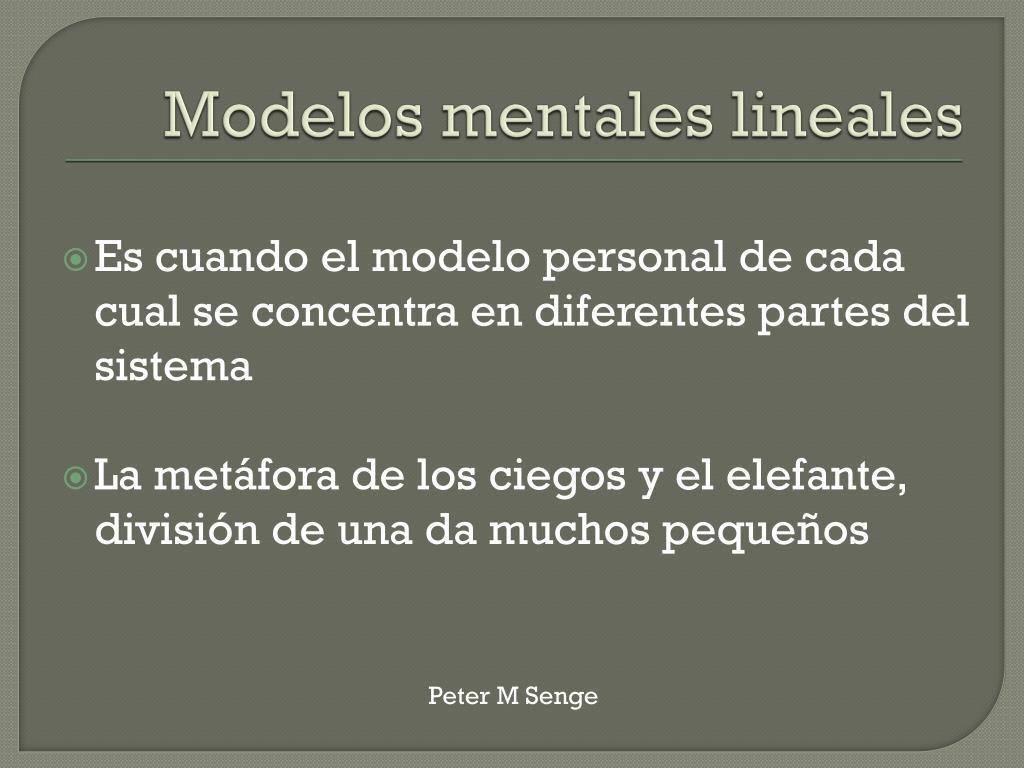 Modelos mentales lineales