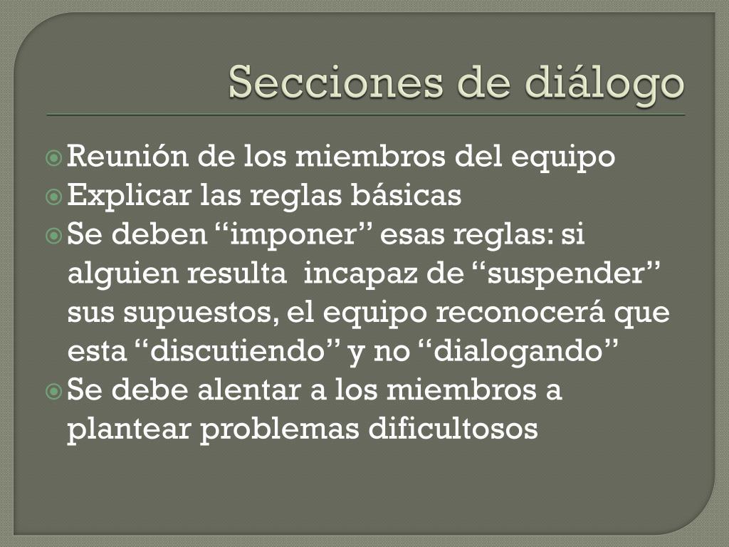 Secciones de diálogo