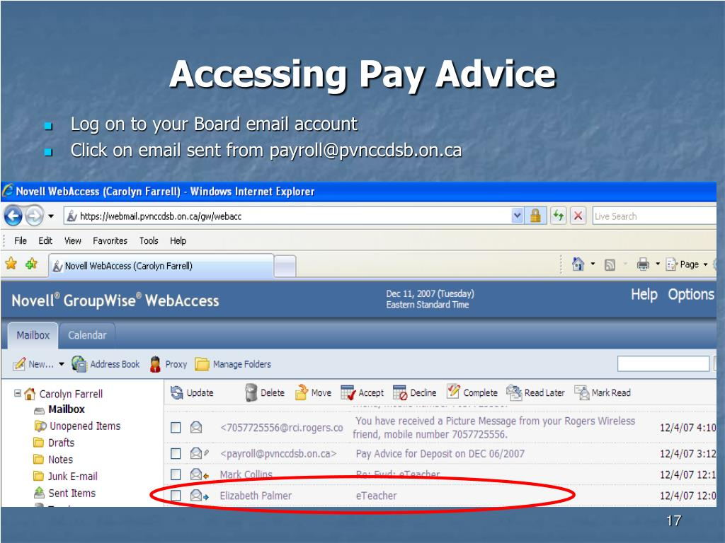 Accessing Pay Advice
