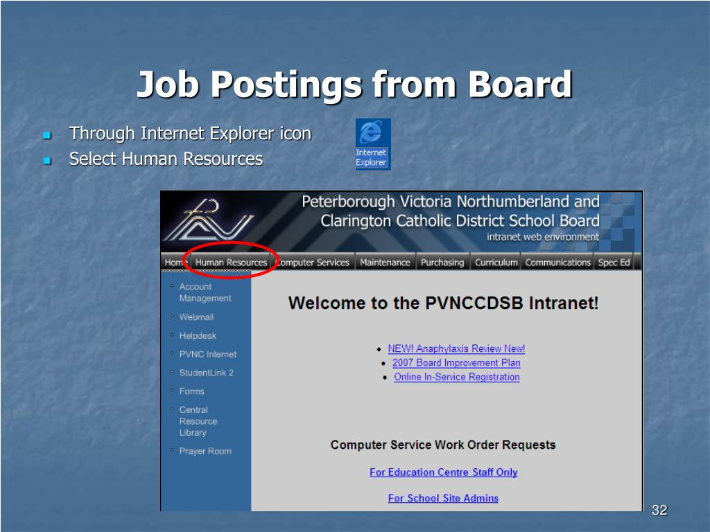 Job Postings from Board