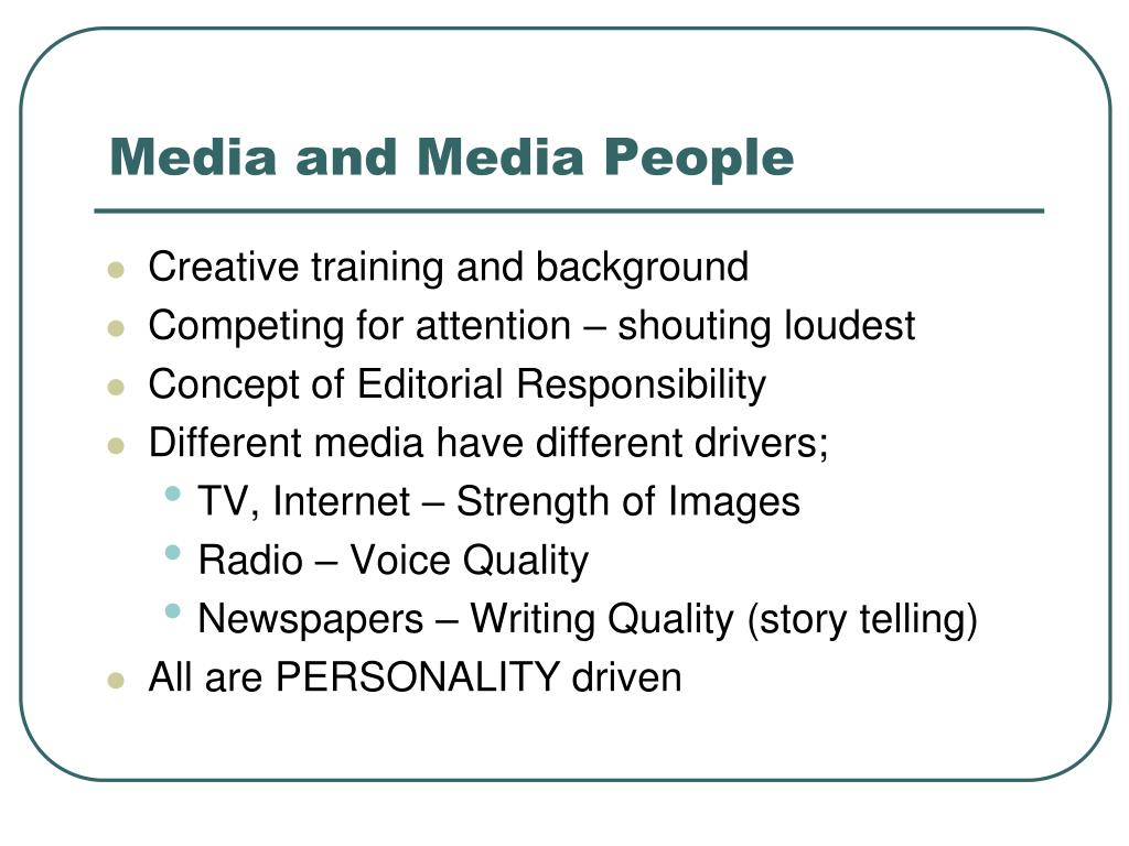 Media and Media People