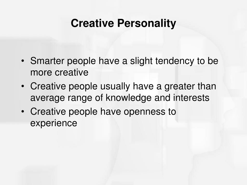 creativity personality approach Learn how experts are measuring creativity in individuals explore different measurement processes and creativity tests that are used by experts.