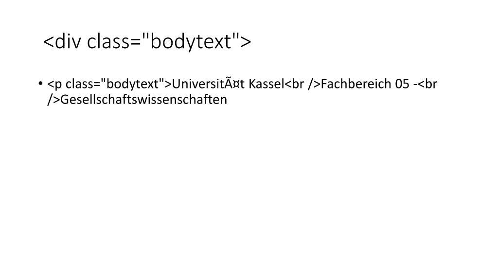 """<div class=""""bodytext"""">"""