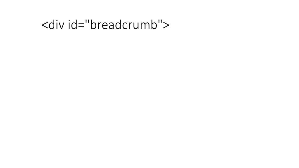 """<div id=""""breadcrumb"""">"""