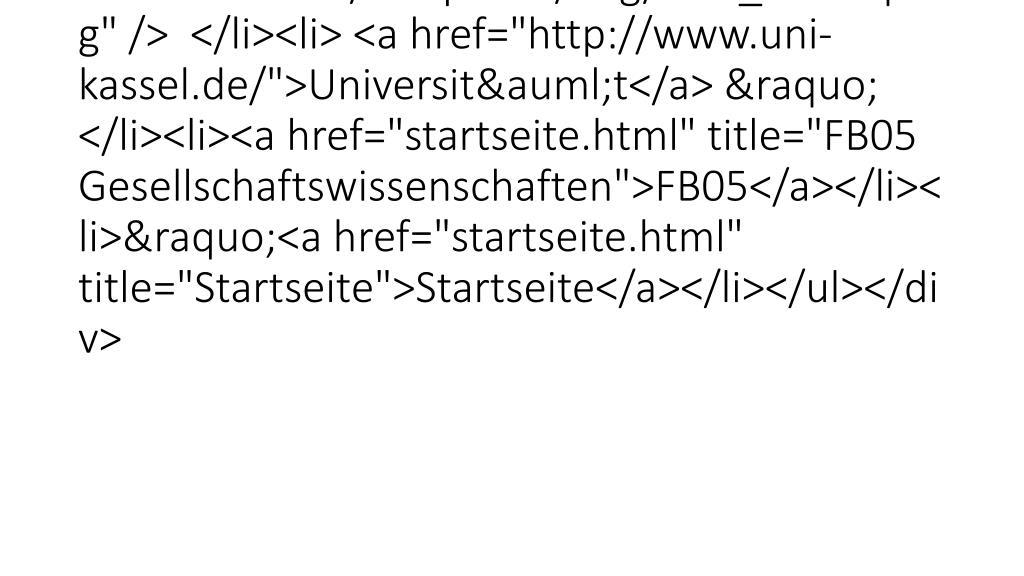 "<ul id=""breadcrumbul""><li> <img alt=""Sie befinden sich hier: "" title=""Sie befinden sich hier: "" src=""fileadmin/templates/i"
