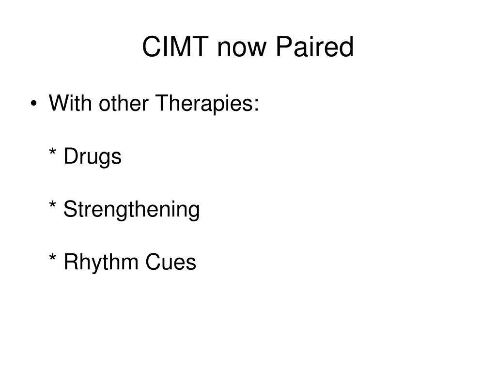 CIMT now Paired