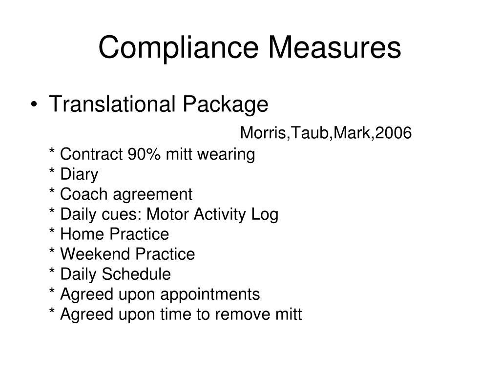 Compliance Measures