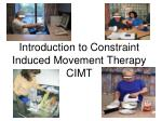 introduction to constraint induced movement therapy cimt