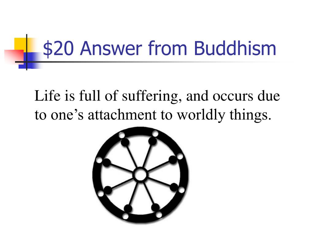$20 Answer from Buddhism