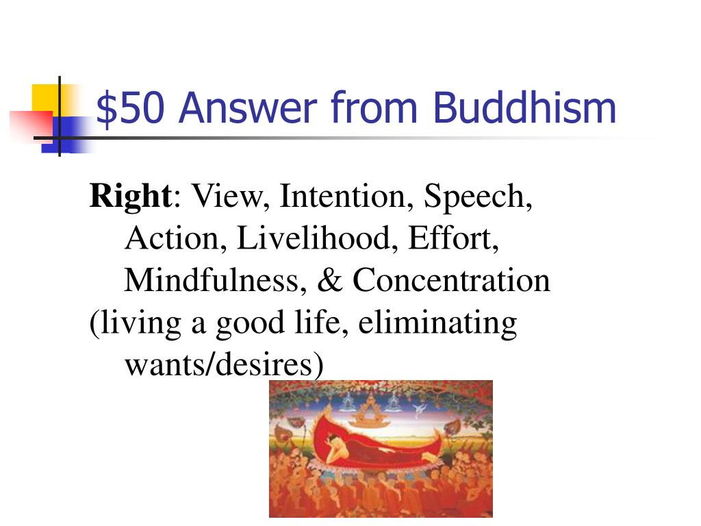$50 Answer from Buddhism