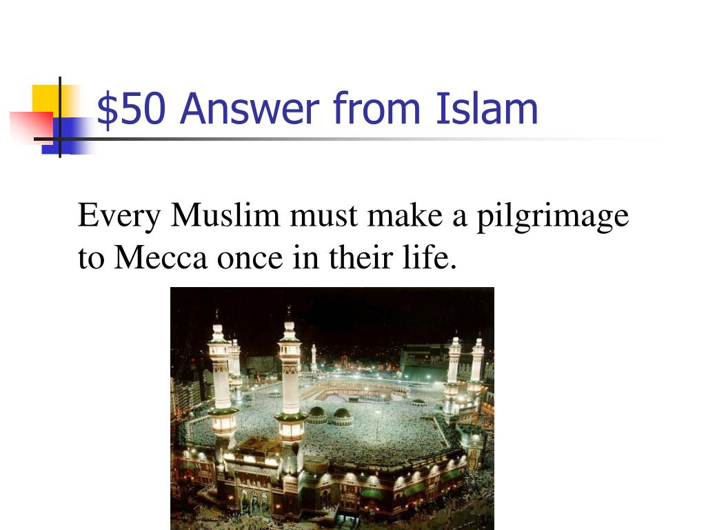 $50 Answer from Islam
