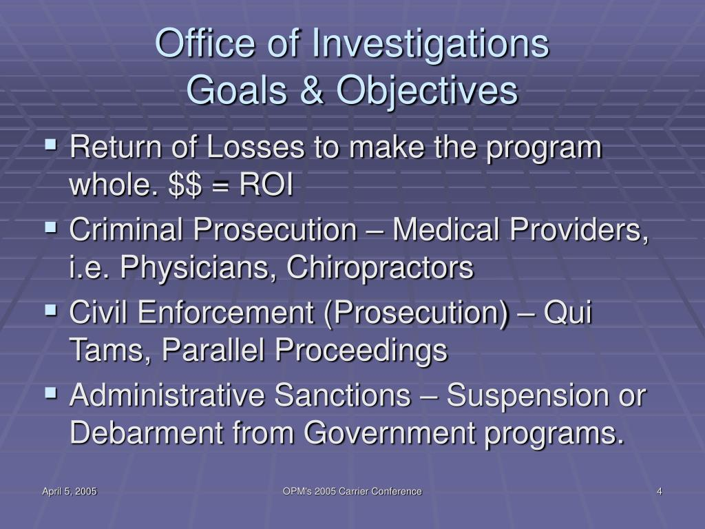 Office of Investigations